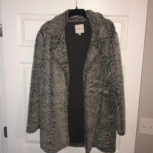 Sherpa open coat